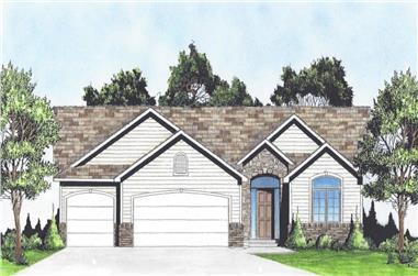 2-Bedroom, 1387 Sq Ft Ranch Home - Plan #103-1134 - Main Exterior