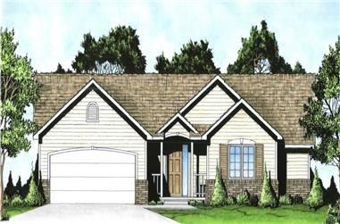2-Bedroom, 1400 Sq Ft Ranch Home - Plan #103-1137 - Main Exterior