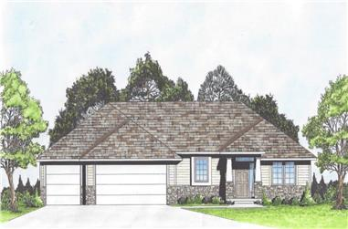 3-Bedroom, 1442 Sq Ft Ranch House - Plan #103-1139 - Front Exterior