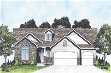 3-Bedroom, 1418 Sq Ft Ranch Home - Plan #103-1140 - Main Exterior