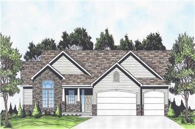 3-Bedroom, 1460 Sq Ft Ranch Home - Plan #103-1142 - Main Exterior