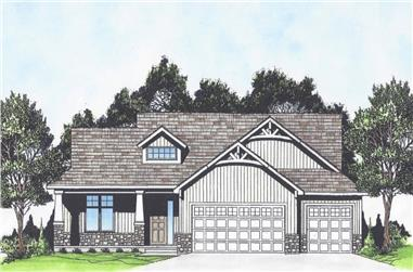 3-Bedroom, 1469 Sq Ft Craftsman Home - Plan #103-1143 - Main Exterior
