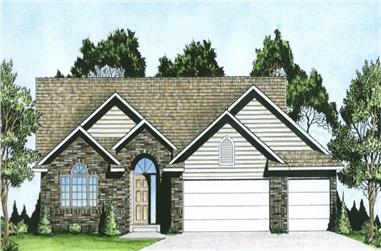 3-Bedroom, 1476 Sq Ft Traditional House - Plan #103-1145 - Front Exterior