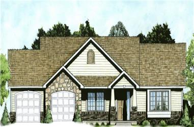 3-Bedroom, 1484 Sq Ft Country House - Plan #103-1146 - Front Exterior