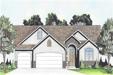 2-Bedroom, 1489 Sq Ft Traditional House - Plan #103-1147 - Front Exterior