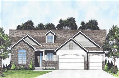 3-Bedroom, 1500 Sq Ft Ranch Home - Plan #103-1148 - Main Exterior