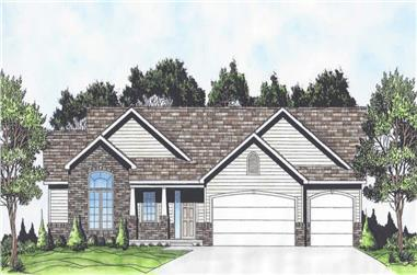 3-Bedroom, 1524 Sq Ft Ranch House - Plan  #103-1149 - Front Exterior