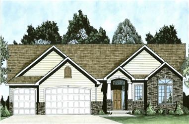 3-Bedroom, 1527 Sq Ft Ranch House - Plan #103-1150 - Front Exterior