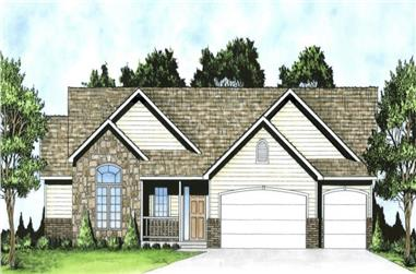 3-Bedroom, 1539 Sq Ft Ranch Home - Plan #103-1151 - Main Exterior