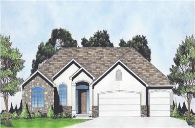 3-Bedroom, 1602 Sq Ft Ranch Home - Plan #103-1154 - Main Exterior