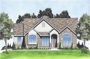 3-Bedroom, 1609 Sq Ft Craftsman Home Plan - 103-1155 - Main Exterior