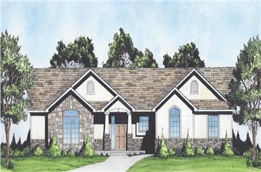 3-Bedroom, 1611 Sq Ft Craftsman Ranch House - Plan #103-1156 - Front Exterior