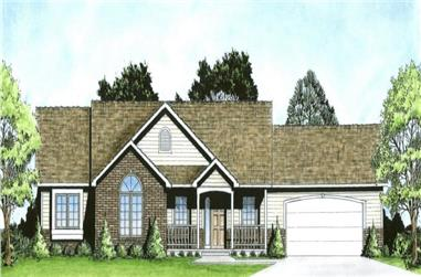 3-Bedroom, 1612 Sq Ft Country Ranch Home - Plan #103-1157 - Main Exterior
