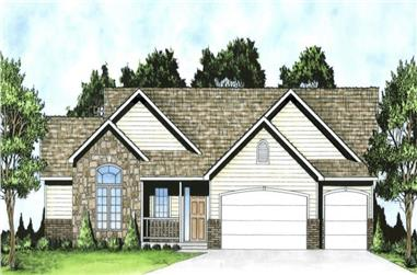 3-Bedroom, 1625 Sq Ft Country Ranch Home - Plan #103-1159 - Main Exterior