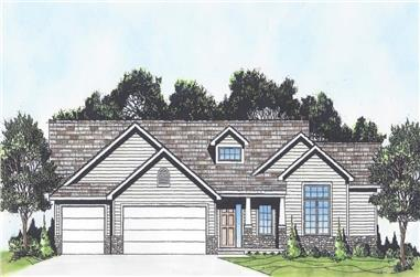 3-Bedroom, 1650 Sq Ft Country Ranch House - Plan #103-1161 - Front Exterior