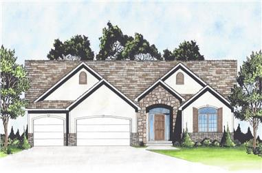 3-Bedroom, 2051 Sq Ft Traditional Home - Plan #103-1163 - Main Exterior