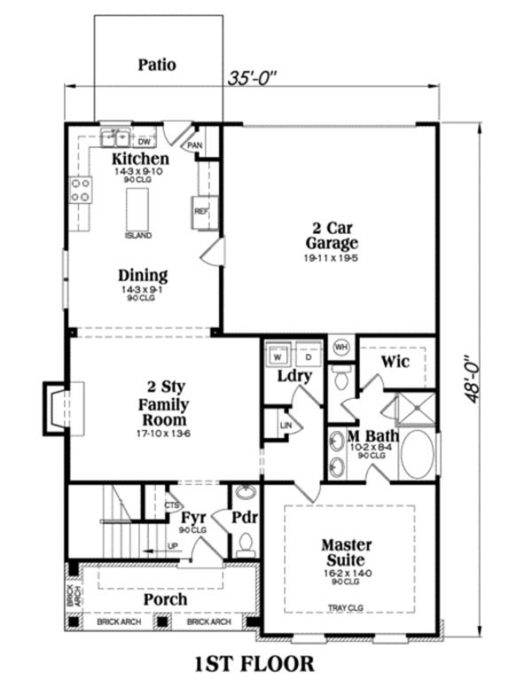 104-1000: Floor Plan Main Level