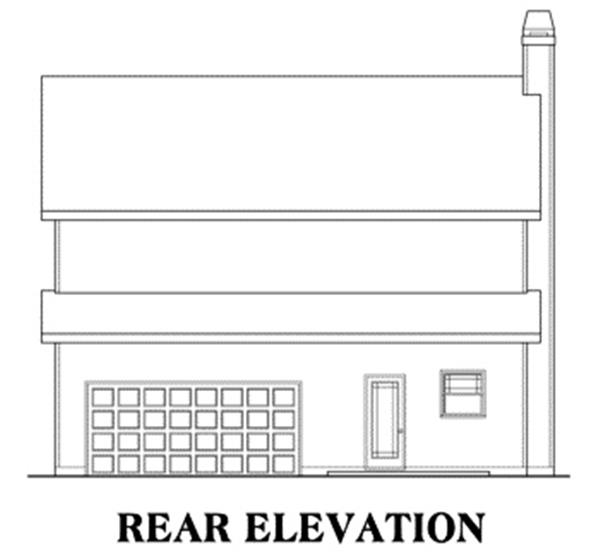 104-1000: Home Plan Rear Elevation