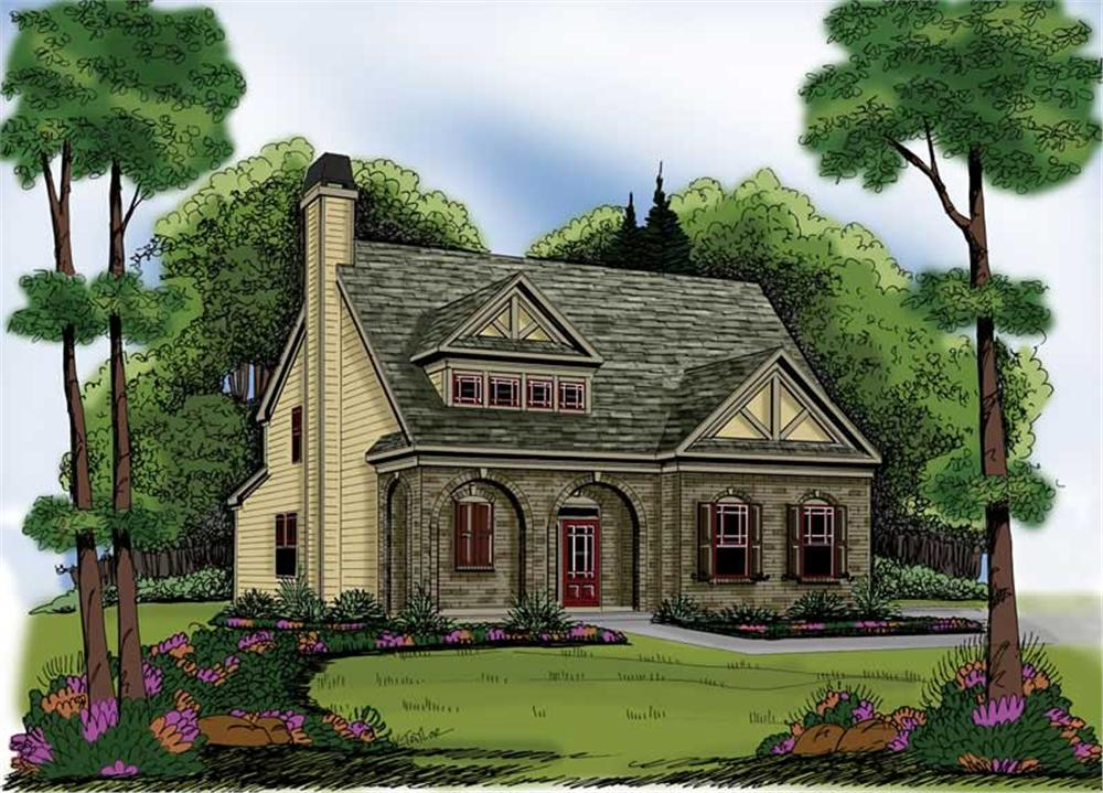 Tudor Home With 4 Bdrms 2021 Sq Ft House Plan 104 1000