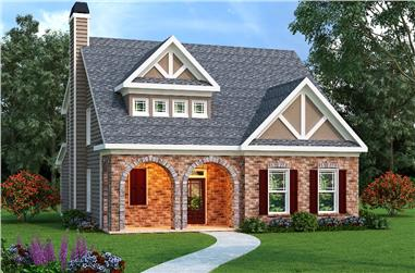 4-Bedroom, 2021 Sq Ft Tudor House Plan - 104-1000 - Front Exterior