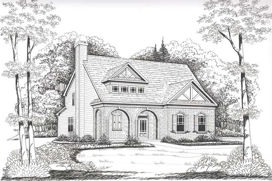 Front Elevation of this 4-Bedroom,2021 Sq Ft Plan -2021