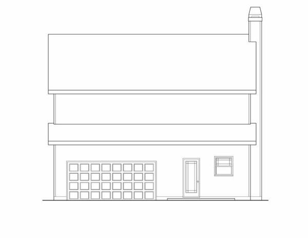 House Plan Chastain Rear Elevation