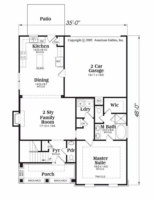 House Plan Chastain Main Floor Plan
