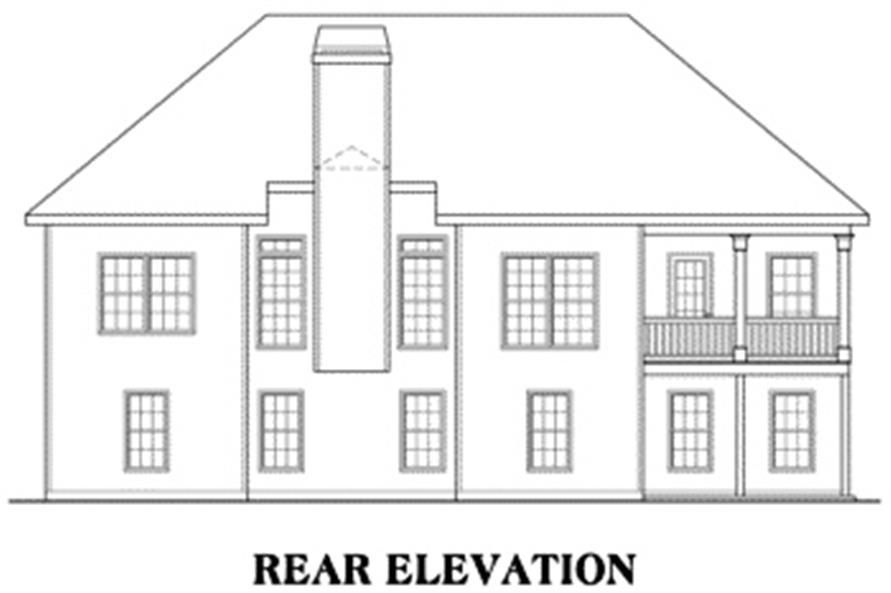 104-1001: Home Plan Rear Elevation