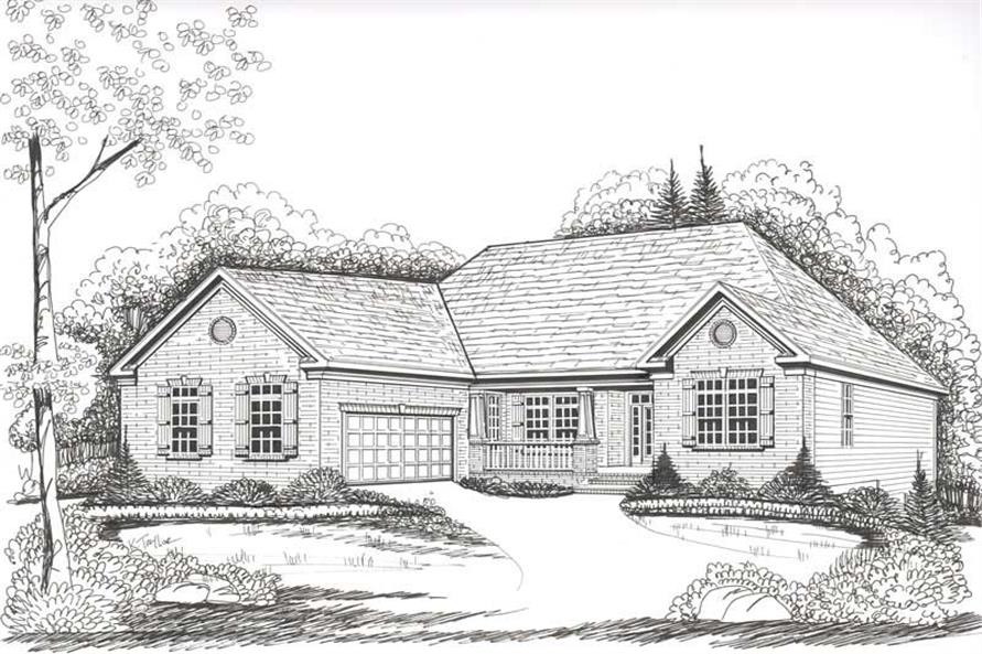 Home Plan Rendering of this 4-Bedroom,2141 Sq Ft Plan -104-1001