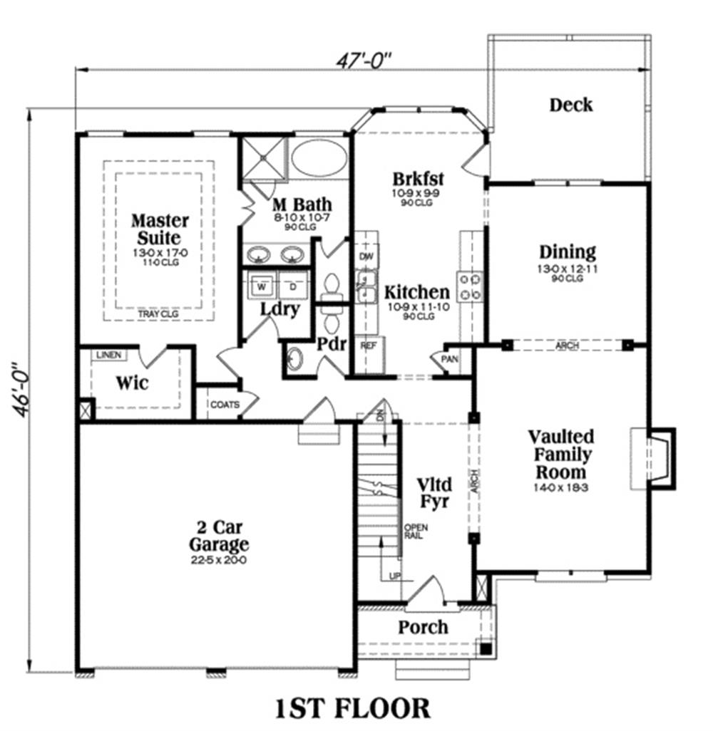 104-1002: Floor Plan Main Level