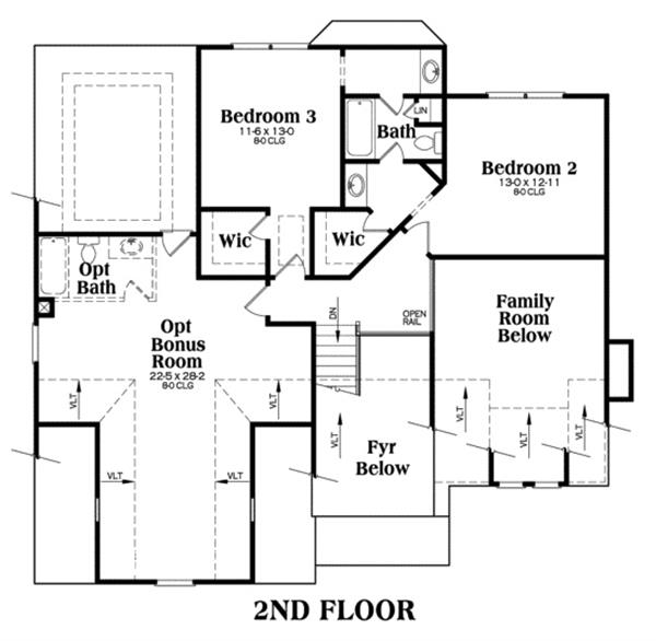 104-1002: Floor Plan Upper Level