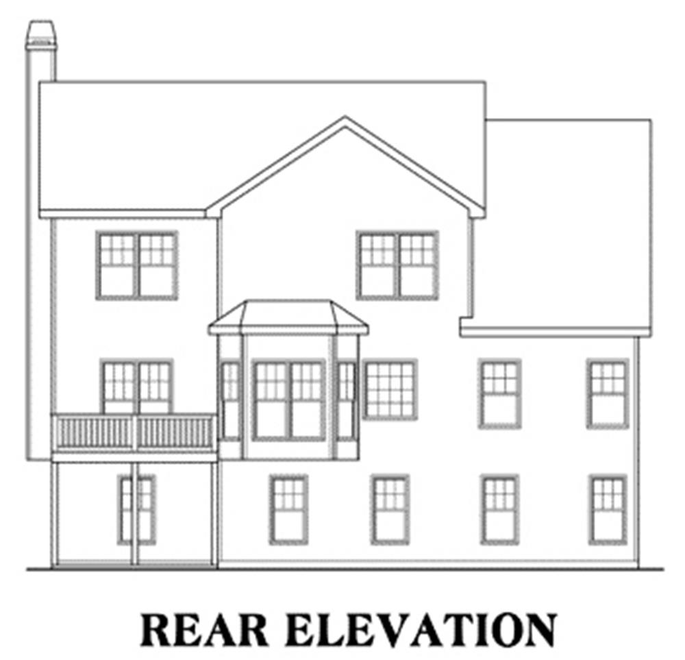 104-1002: Home Plan Rear Elevation