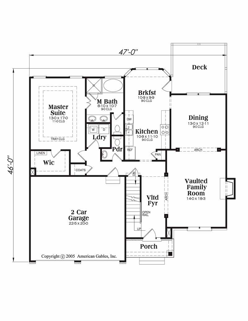 House Plan Northwood Main Floor Plan