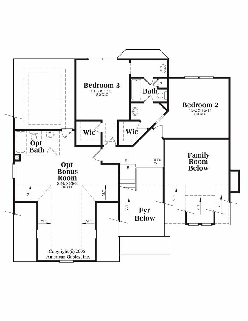 House Plan Northwood Second Floor Plan