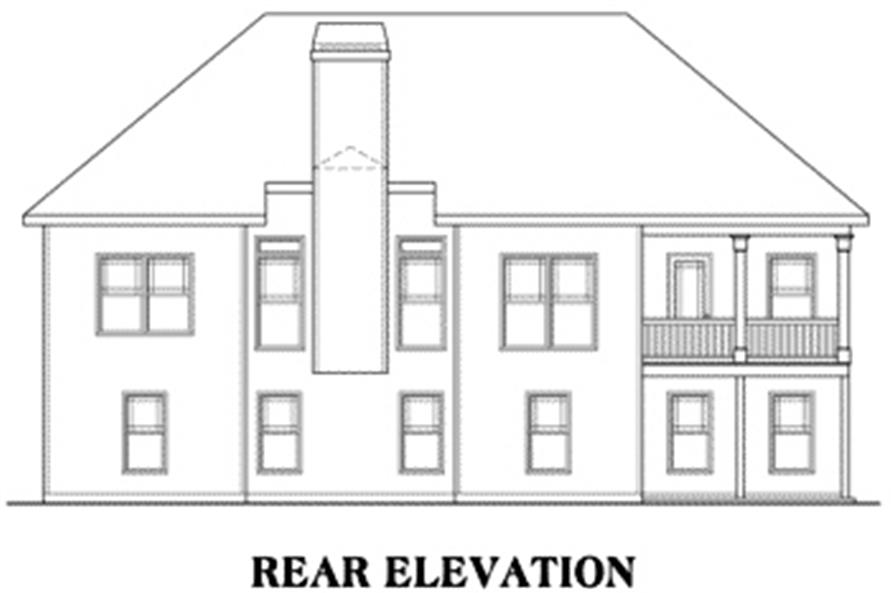 Home Plan Rear Elevation of this 4-Bedroom,2149 Sq Ft Plan -104-1003