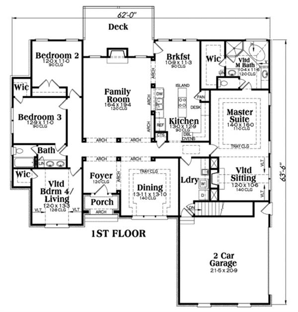 104-1004: Floor Plan Main Level