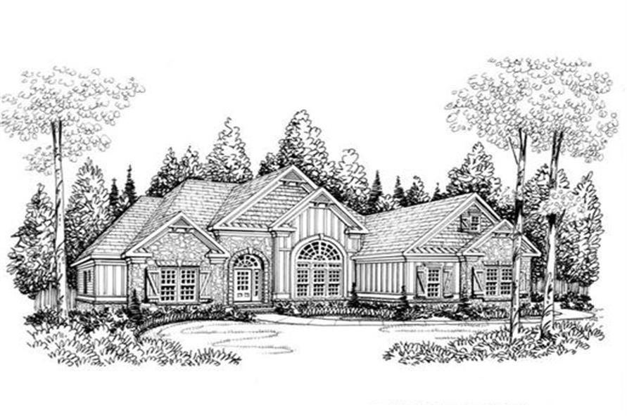 Home Plan Rendering of this 4-Bedroom,2406 Sq Ft Plan -104-1004