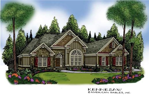 Main image for house plan # 17124