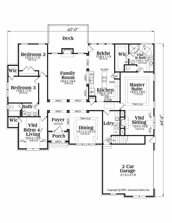 House Plan Kennesaw Main Floor Plan