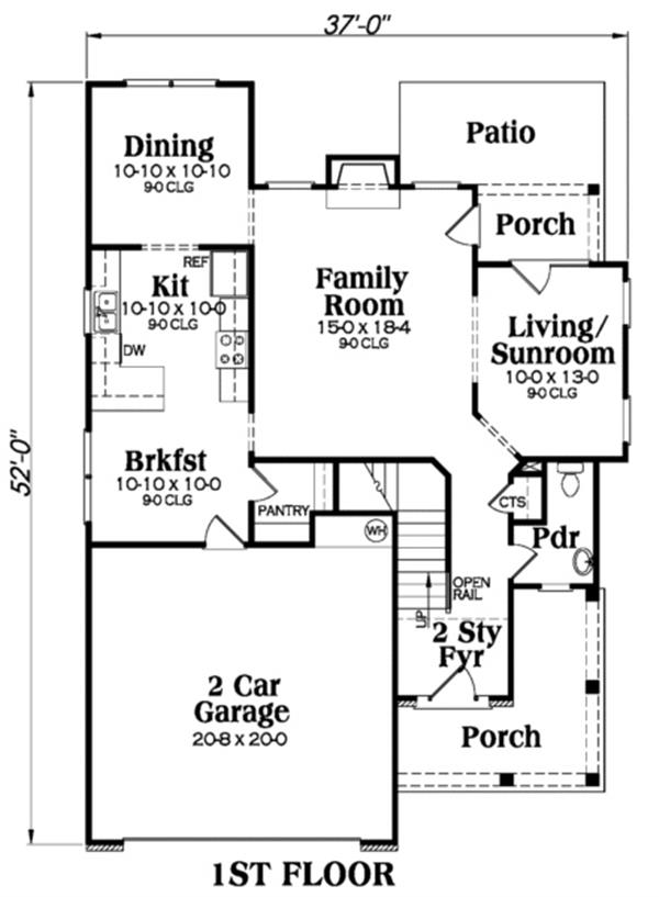 104-1005: Floor Plan Main Level