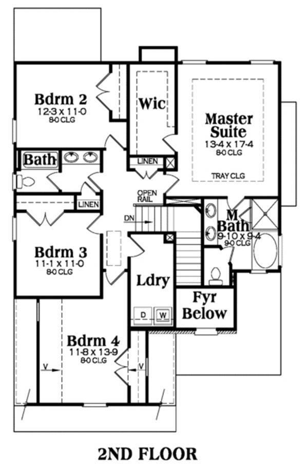 104-1005: Floor Plan Upper Level