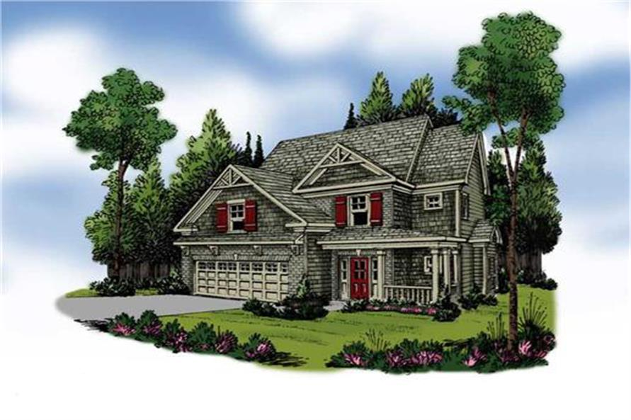 Home Plan Rendering of this 4-Bedroom,2239 Sq Ft Plan -2239