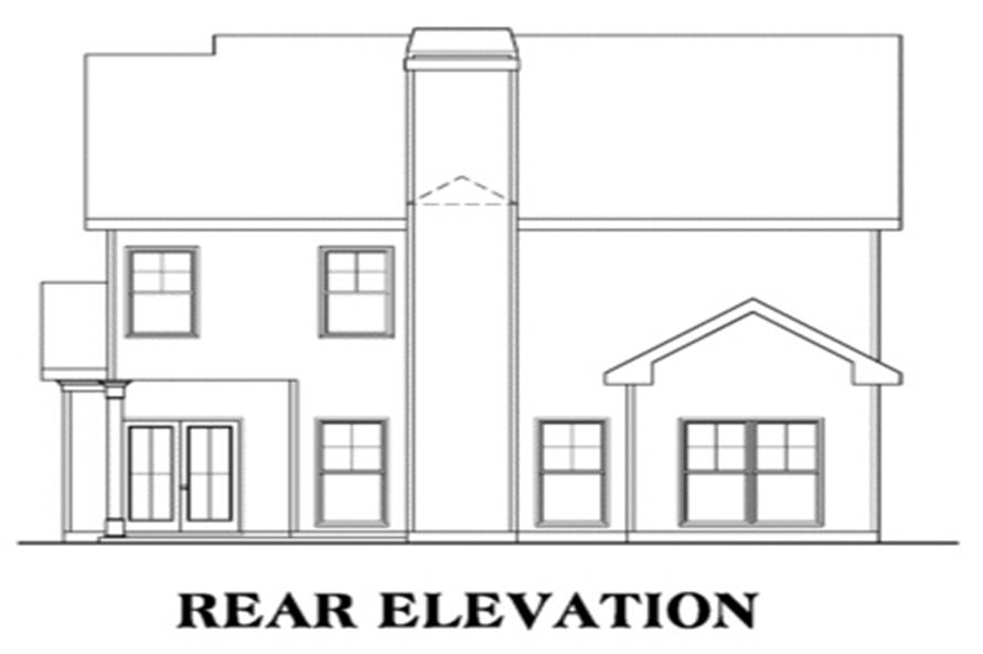 104-1005: Home Plan Rear Elevation