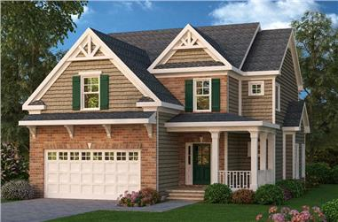 4-Bedroom, 2239 Sq Ft Ranch Home Plan - 104-1005 - Main Exterior