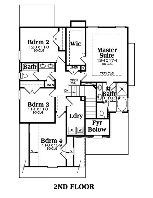 House Plan AG-Abbot Second Floor Plan
