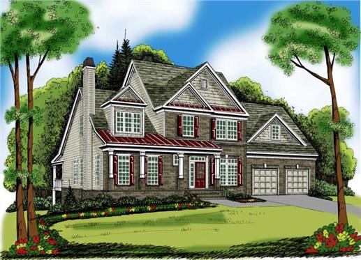 Main image for house plan # 17041
