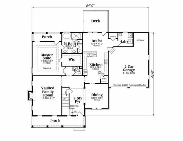 House Plan Stratford Main Floor Plan