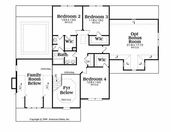 House Plan Stratford Second Floor Plan