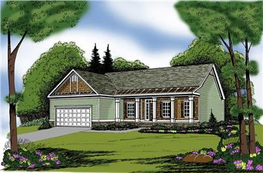3-Bedroom, 1870 Sq Ft Country House Plan - 104-1007 - Front Exterior