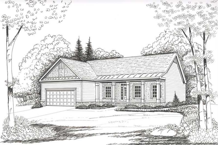 House Plan Abbey Front Elevation